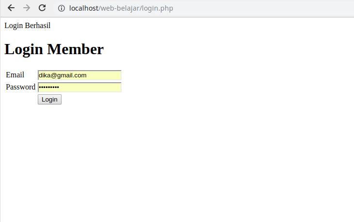 3. Login Member