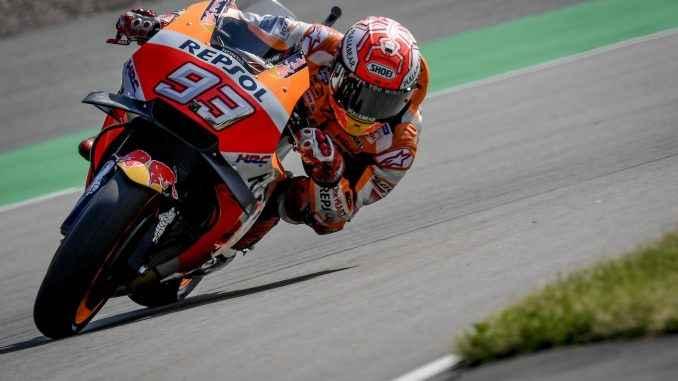 Marquez Pimpin Warming Up Motogp Jerman 2019