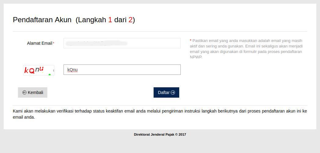 1. Pendaftaran Akun