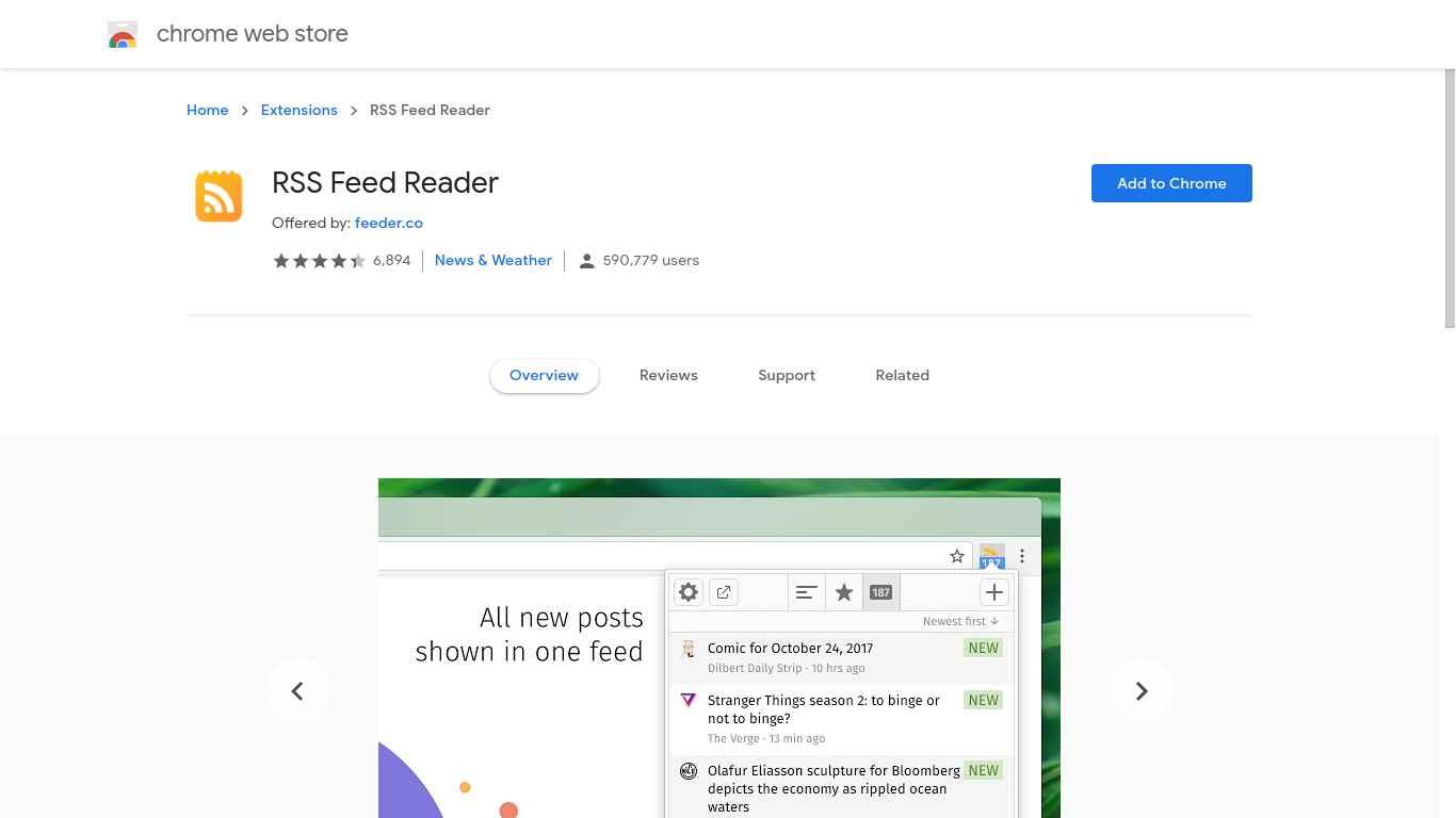 1. Pasang RSS Feed Reader di Chrome