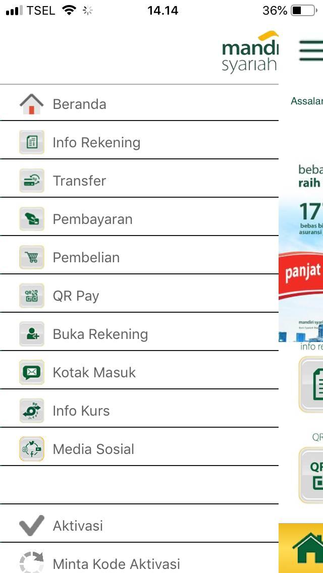 10. Buka Aplikasi Mobile Banking Mandiri Syariah