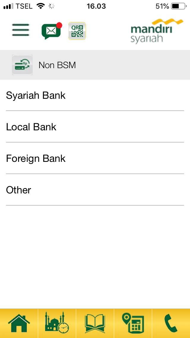 5. Pilih Jenis Bank